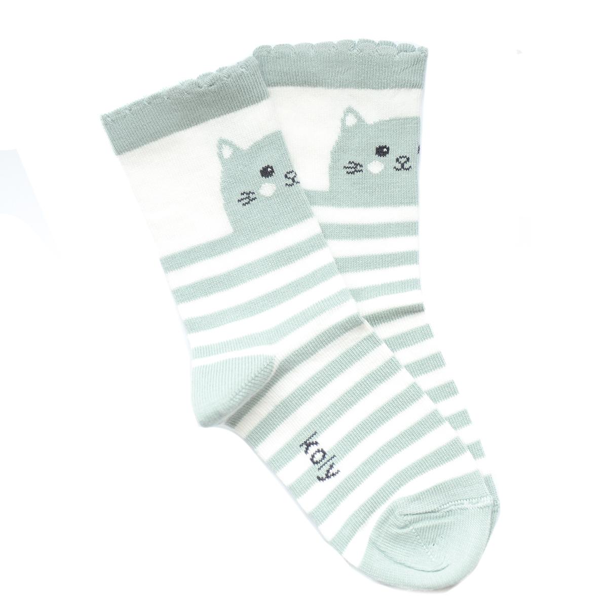 Čarape sa macom i prugama