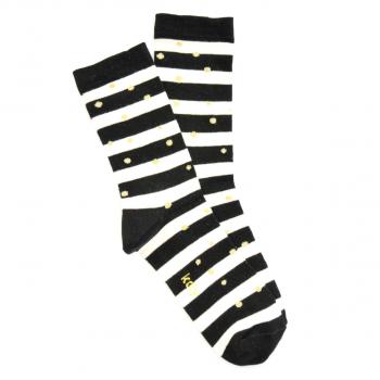 Prugaste Čarape sa Zlatnim Tufnama