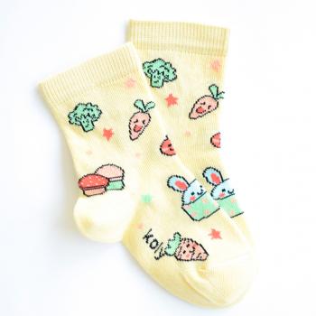 Žute čarape sa povrćem