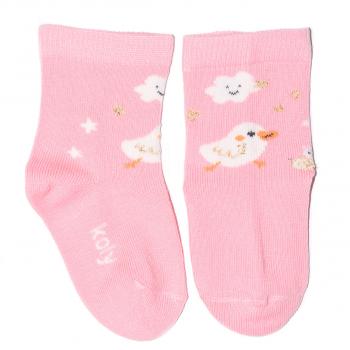 Roze čarape sa piletom