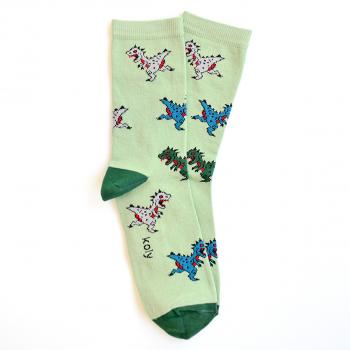 Čarape sa gnevnim dinosaurusima