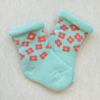 Frotir čarape sa cvetićima