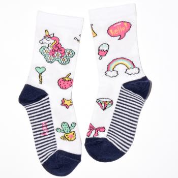 Jednorog u cvetićima Čarape